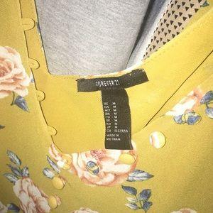 Yellow Flowery Crop Top